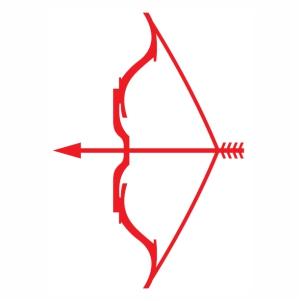 Arrow With Bow Vector svg