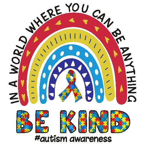 Be Kind Autism Awareness Vector