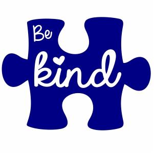 autism awareness be kind logo svg file