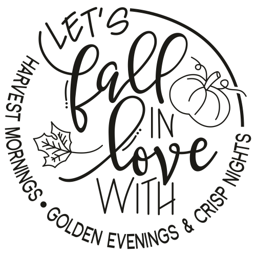 Lets Fall In Love Svg
