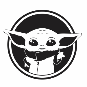 Baby Yoda Alien vector