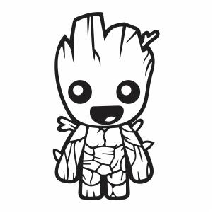 Cute Baby Groot vector