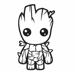 Baby Groot vector