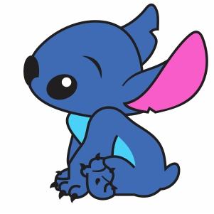 little Baby Stitch vector
