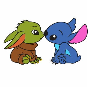 Too Cute Baby Yoda And Baby Stitch Svg File Little Baby Yoda And Baby Stitch Svg Cut File Download Jpg Png Svg Cdr Ai Pdf Eps Dxf Format