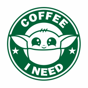 Baby Yoda Coffee Svg