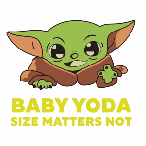 Baby Yoda Size Matters Not vector