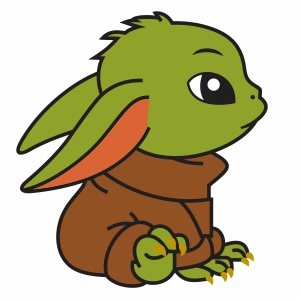 Too Cute Baby Yoda Svg File Little Baby Yoda Svg Cut File Download Jpg Png Svg Cdr Ai Pdf Eps Dxf Format