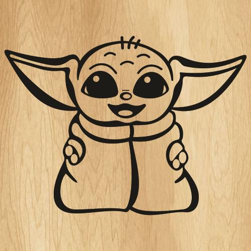 Cute Baby Yoda Svg
