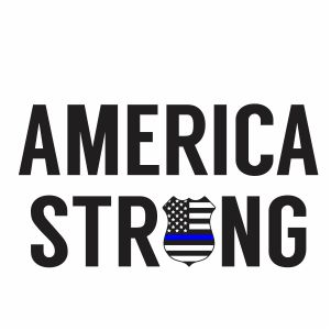 Back The Blue America Strong Svg
