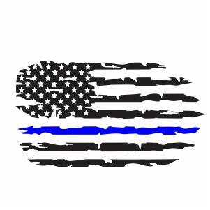 Back The Blue Flag Svg
