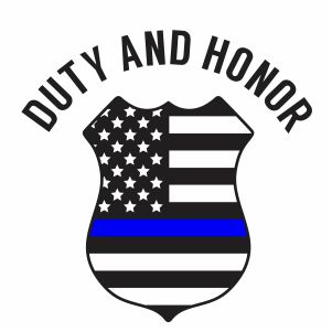 Back The Blue Duty and Honor Vector