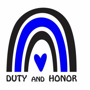 Thin Blue Line Duty and Honor Svg
