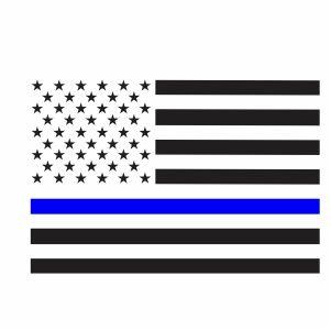 Thin Blue Line Flag Svg