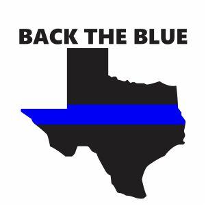Thin Blue Line Texas Svg