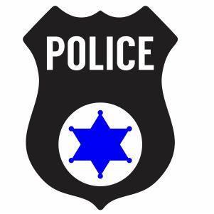 Back The Blue Police Badge Svg
