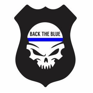 Back The Blue Punisher Skull Png