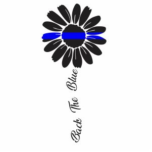 Back The Blue Sunflower Svg