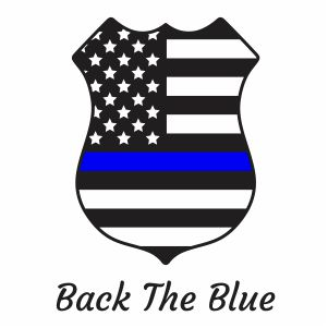 Back The Blue USA Badge Clipart