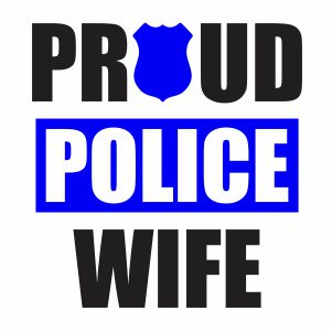 Back The Blue Proud Police Wife Vector