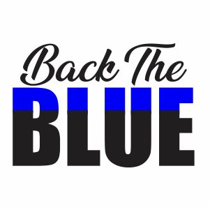 Back The Blue Svg