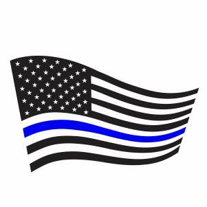 Thin Blue Line USA Flag Svg