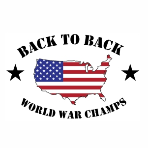 america Back To Back World War Champs vector file