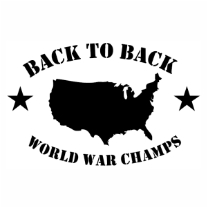 Back to Back Worldwar Champs vector file