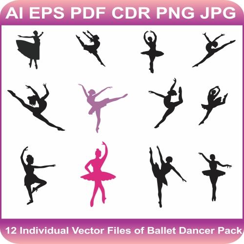 Ballet Dancer pack design vector