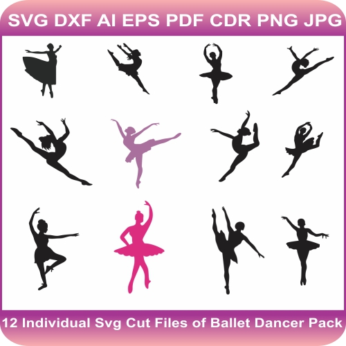 ballerina ballet dance svg cut