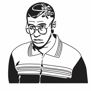 Bad Bunny Art Vector