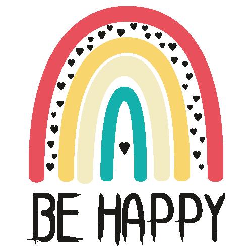 Be Happy Rainbow Svg