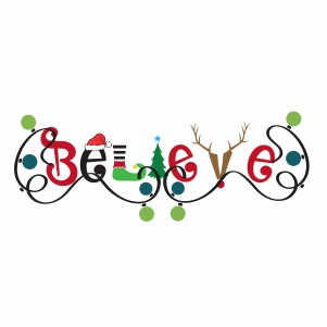 Believe Christmas Clipart