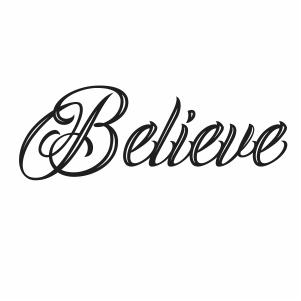 Believe Silhouette