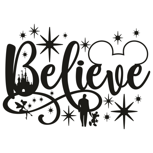 Disney Believe Svg
