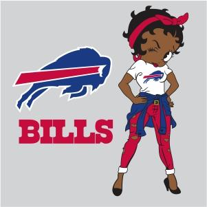Betty Boop Buffalo Bills vector