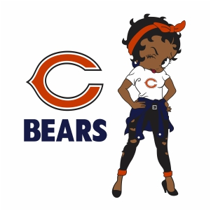 Betty Boop Chicago Bears vector