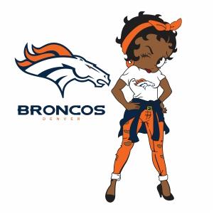Betty Boop Denver Broncos vector