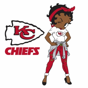 Betty Boop Kansas City Chiefs vector