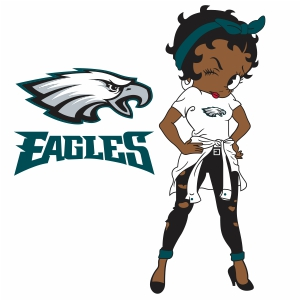 Betty Boop Philadelphia Eagles Vector