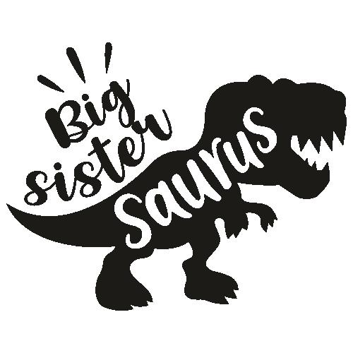 Big Sister Saurus Svg
