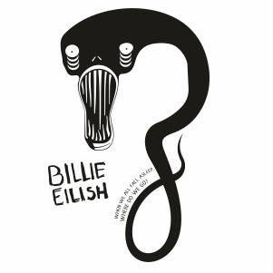 Billie Eilish When We All Fall Asleep Clipart