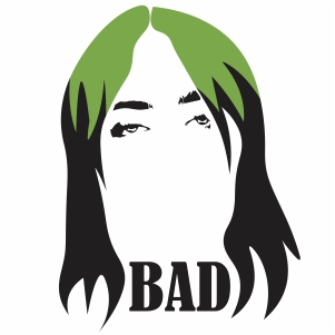 Billie Eilish Green Hair Svg