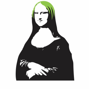 Billie Eilish Mona Lisa Svg