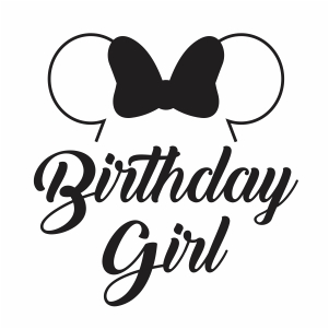 Disney Birthday Girl Vector