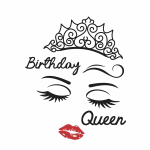 Birthday queen with crown vector file