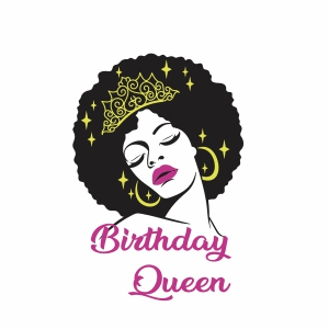 Birthday queen girl with crown vector file