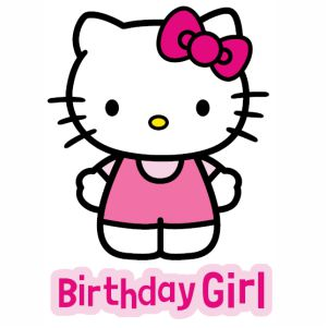 Birthday Girl Hello Kitty vector