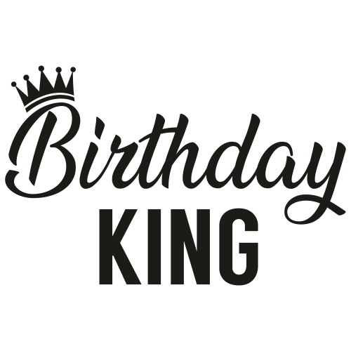 Birthday King Svg