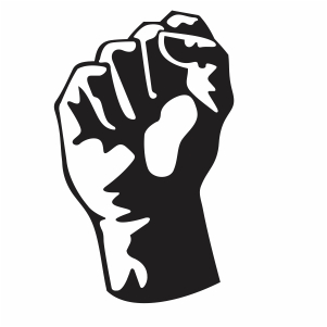 Black Power Fist Vector